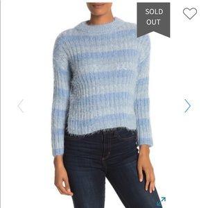 Love by Design Eyelash Knit Stripe Print Sweater